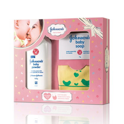 Johnson S Baby Care Collection With Organic Cotton Bib